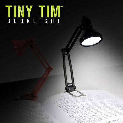 Funky Retro Black Tiny Tim Booklight Laptop Lamp Night Light - Boxed Mustard New
