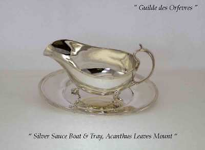 Sauce/Gravy Boat & Saucer with Acanthus Leaves Applied Border
