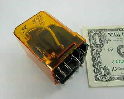 "New Asco Amber Ice Cube Relays, 110VDC 110V DC Coil 8 3/16"" Terminals 115271 920"