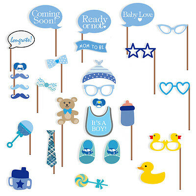 Baby Shower Photo Booth Props Its A Boy Baby Decorations 29pcs No