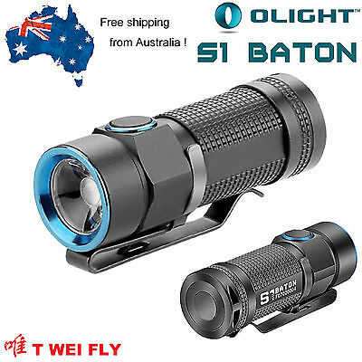 AU Stock Olight S1 Baton Cree XM-L2 LED EDC Flashlight 500 Lumens ( S10R S10)