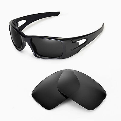 Walleva Black Replacement Lenses for Oakley Crankcase Glasses
