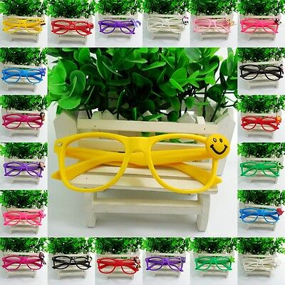 NEW Retro Nerd Glasses Frame Clear No Lens+Cartoon Charms Party Favor Kids Gifts