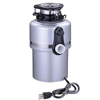 Kitchen 3/4HP Continuous Feed Food Waste Disposer Home Garbage Disposal 4200RPM