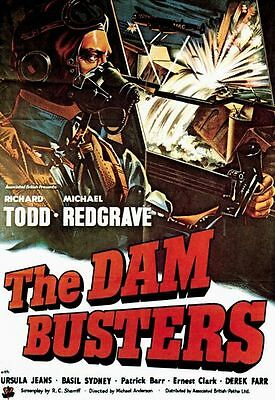 Vintage The Dam Busters Movie Poster A3 Print