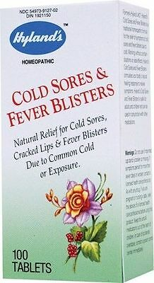 COLD SORES & FEVER BLISTERS (NATURAL RELIEF) - 100 Tabs - HYLAND'S HOMEOPATHIC