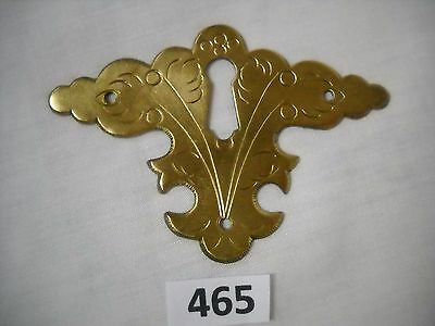 Antique Chippendale Style Brass Keyhole Cover