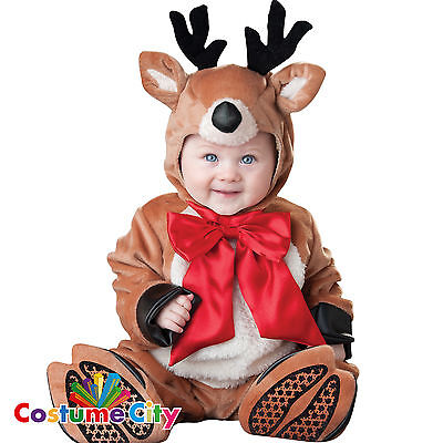 Baby Infants Reindeer Rascal Christmas Rudolph Fancy Dress Party Costume