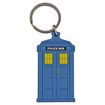 VINTAGE POLICE BOX TARDIS KEYRING - Doctor Who Style Retro TV Sci Fi KEYS