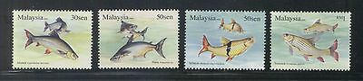 Malaysia 2006 Fresh Water Fish Series 3 Comp. Set Of 4 Stamps Sc#1089-1092 Mint