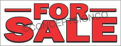 3'X8' FOR SALE BANNER Outdoor Sign LARGE Boat Car House Property Land Building