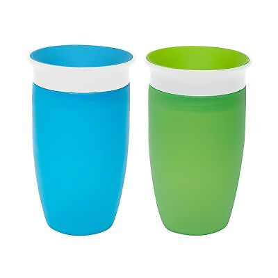 Munchkin Miracle 360 Sippy Cup Green/Blue 10 Ounce 2 Count New