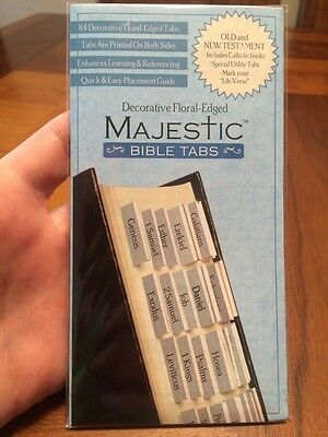 Majestic Bible Tabs - Light Blue Floral Tabs - Bible Accessory - $4.99 Retail