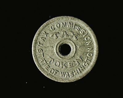 1941 State of Washington TAX TOKEN Tax on Purchases 14 Cents or less   USED