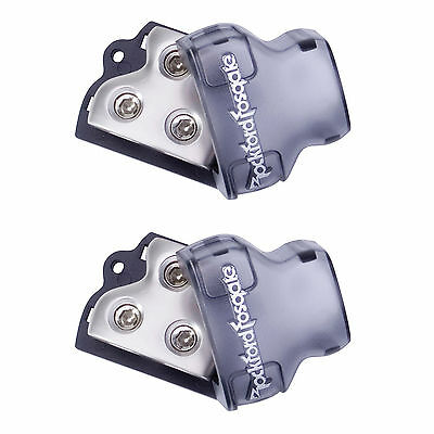2 Rockford Fosgate RFD1 0/4 AWG in 4 or 8 AWG Out Power Wire Distribution Blocks