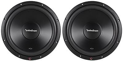 "2) Rockford Fosgate R2D4-12 Prime 12"" 1000w Dual 4 Ohm Car Audio Subwoofers Subs"