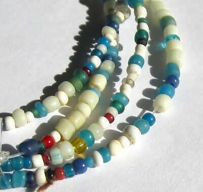 "26"" Strand Of Rare Ancient/old/very Tiny/tiny Mixed Columbia River Trade Beads"