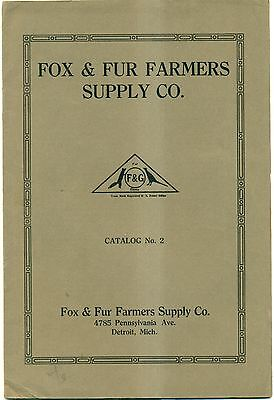 1920's Fox & Fur Farmers Supply Co. Catalog #2 - Detroit,MI