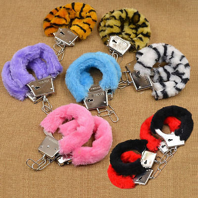 Adult Fantasy Sex Toy Cosplay Handcuffs Adult Night Party Game Favor Black Red