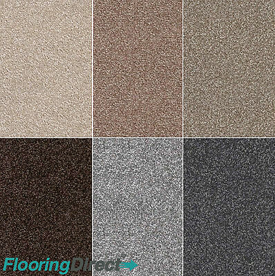 Super Soft 12mm Thick Quality Deluxe Saxony Carpet - £6.99sqm - Bedroom - Lounge