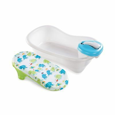 Summer Infant Newborn to Toddler Bath Center and Shower Blue Neutral