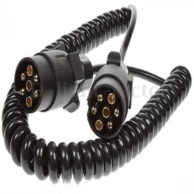 2m 7 Pin Plug & Socket Cord Extension Cable For Towing Trailer Truck Light Board
