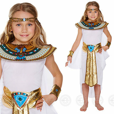Girls Egyptian Queen Fancy Dress Costume Egypt Childs Cleopatra Kids Book Day