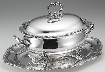 Paul Storr  Soup Tureen & Cover Gadroon & Shell, Plateau with Gadroon Border