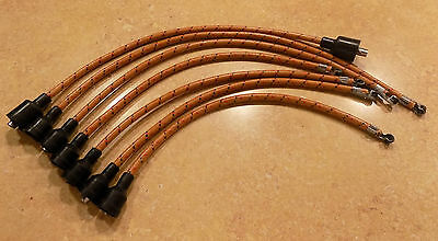 7mm Cloth Covered Spark Plug Wire Set Vintage Wires Inline 6 Copper Core Coil