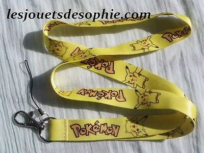 POKEMON PIKACHU jaune TOUR COU porte clef Badge cordon KEYCHAIN MP clef lanyard