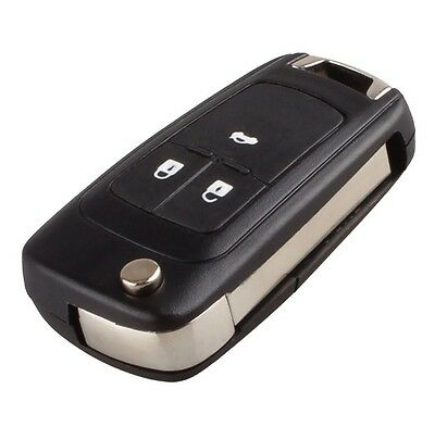 3 Button Fob Key Case For Vauxhall Opel Zafira Astra Insignia Holden *with Logo*