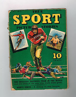 TRUE SPORT PICTURE STORIES (v1) #11 Gold Age (1943) find from Street & Smith!
