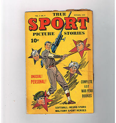 TRUE SPORT PICTURE STORIES (v2) #9 Gold Age (1944)  find from Street & Smith!