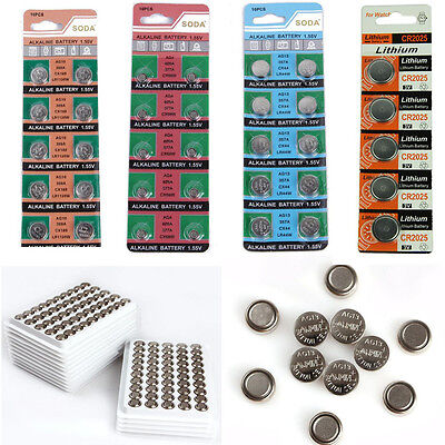 NEW 5/10X Li-ion Battery Volt Coin Genuine Button Cell Battery 6 Styles U Pick