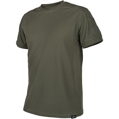 Helikon Tactical Mens Hiking T-Shirt Topcool Thermo Active Army Top Olive Green