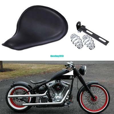 Solo Selle Cuir With Ressorts Support Kit Pour Harley Honda Suzuki Chopper
