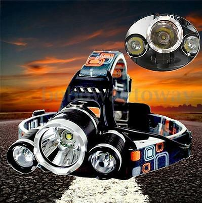 10000 Lm 3x LED T6 Lampe Frontale Rechargeable 18650 Torche Headlamp Flashlight
