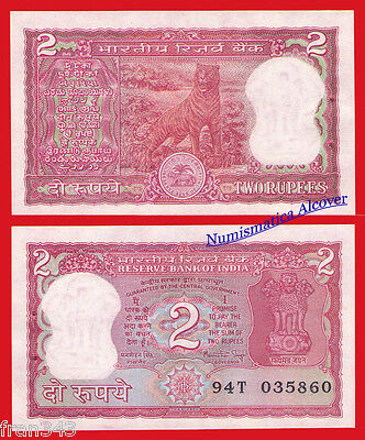 INDIA 2 rupees 1982-85 SIGN 83 Pick 53Aa   SC /  UNC W/H