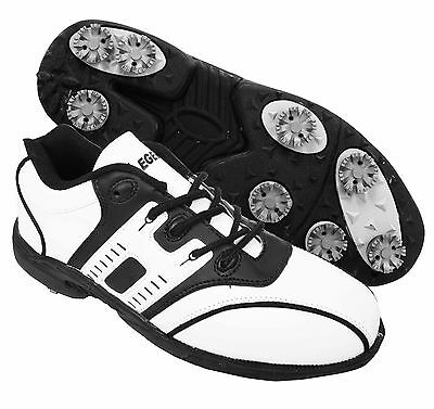 New 2015 Legend Golf Mens Leather Look Water Resistant Tour Sport Shoes All Size