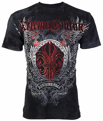 XTREME COUTURE by AFFLICTION Mens T-Shirt ROYAL FAMILY Tattoo Biker MMA UFC $40