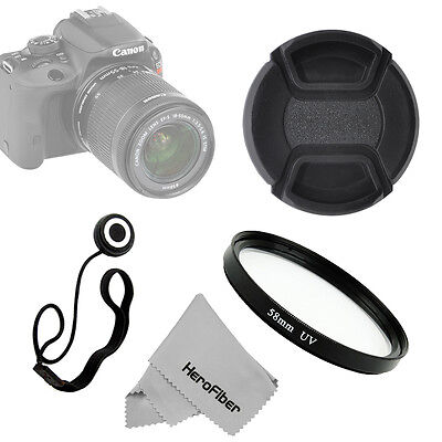 Xtech 58mm UV Digital Multi-Coated Lens Glass Filter + Lens Cap And Keeper