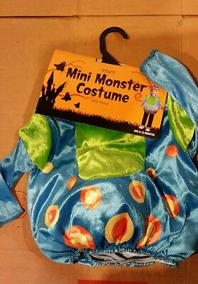 Toddler halloween costume mini monster with hood
