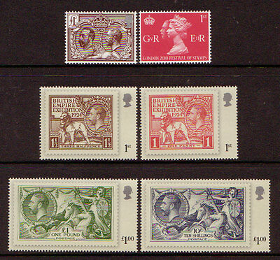 Great Britain 2010 George V Accession Set Of 6 Unmounted Mint,mnh