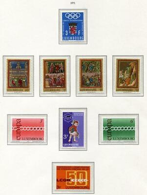 39849) LUXEMBOURG 1971 MNH** Yearset cpmplete , 21v