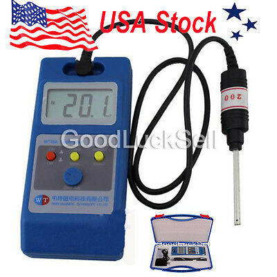 WT10A LCD Tesla Meter Gaussmeter Surface Magnetic Field Tester US Free Fast Ship