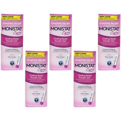 5 Pack Monistat Soothing Care Chafing Relief Powder-Gel, 1.5-Ounce Tube