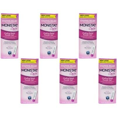 6 Pack Monistat Soothing Care Chafing Relief Powder-Gel, 1.5-Ounce Tube