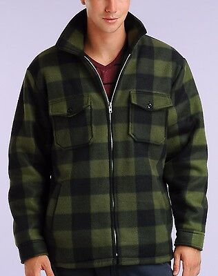 MAXXSEL Men's Heavy Warm Thick Buffalo Plaid Sherpa Lined Fleece Jacket S-5XL