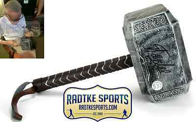 Stan Lee Autographed/Signed Marvel Thor Full Size Movie Style Prop Hammer