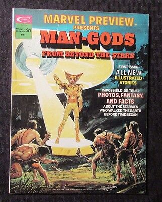 1975 MARVEL PREVIEW #1 VF 8.0 Neal Adams Cover Presents Man-Gods
